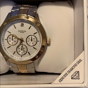 Geneva Genuine Diamond Watch